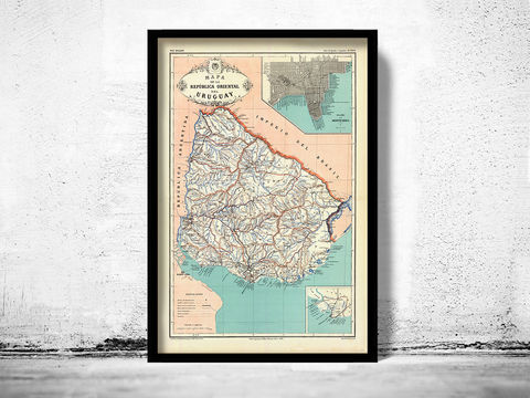 Old,Map,Uruguay,and,Montevideo,1888,Art,Reproduction,Open_Edition,old_map,South_America,vintage_map,antique_map,uruguay,map_of_uruguay,uruguay_map,uruguay_poster,uruguai,antique_uruguay,montevideo,montevideo_map,montevideo_city