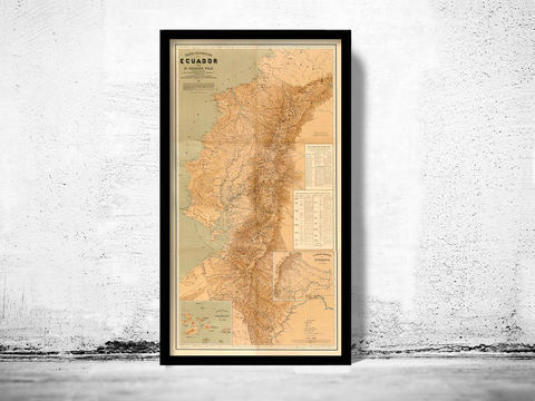 Old,Map,of,Ecuador,1892,Equator,Republic,ecuator, ecuator map, map of ecuator, equator republic, ecuator poster, vintage decor