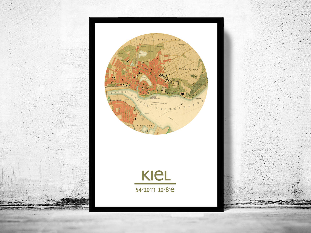 KIEL - city poster - city map poster print - product images  of