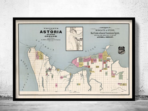 Old,Map,of,Astoria,Oregon,1890,Vintage,astoria oregon, astoria oregon map, astoria oregon poster, astoria oregon streets, map of astoria, astoria decor, maps and prints, old map