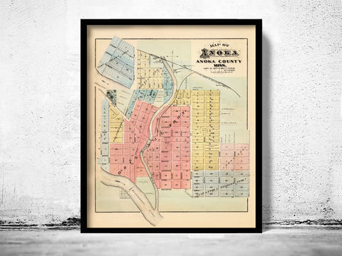 Old,map,of,Anoka,Minnesota,1874,Art,Reproduction,Open_Edition,United_States,panoramic_view,birdseye,vintage_map,old_map,old_saint paul,saint paul minnesota,st paul_city,saint paul_birdseye,anoka old_map,anoka_poster,map_of_anoka minnesota, old map of anoka minnesota