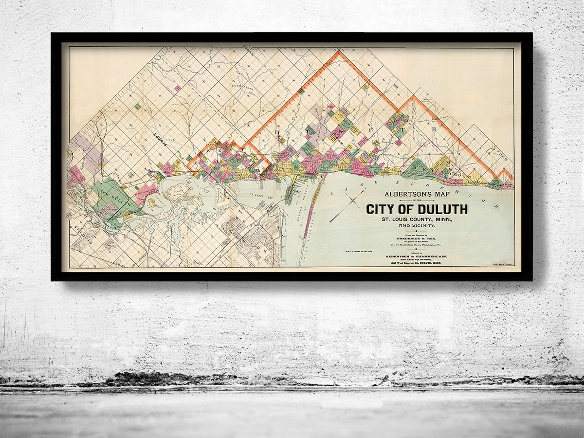 Old map of Duluth Minnesota 1891 - product images  of