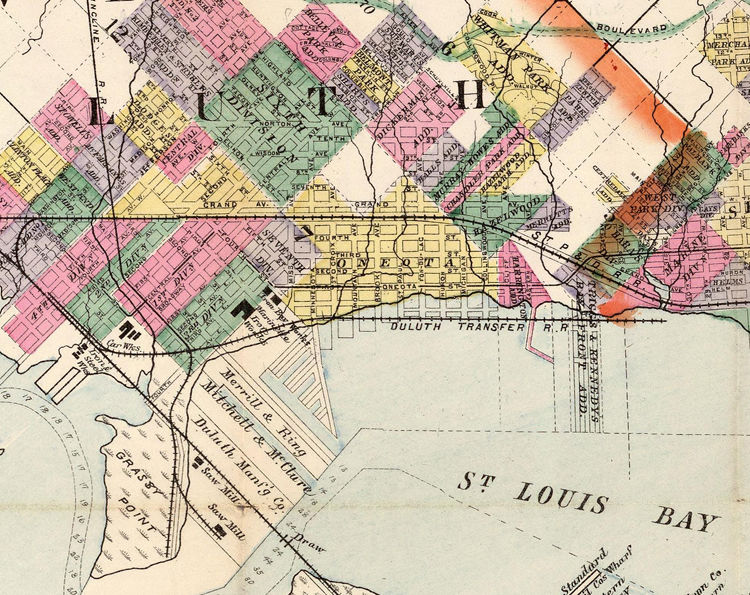 Old map of Duluth Minnesota 1891 - product image