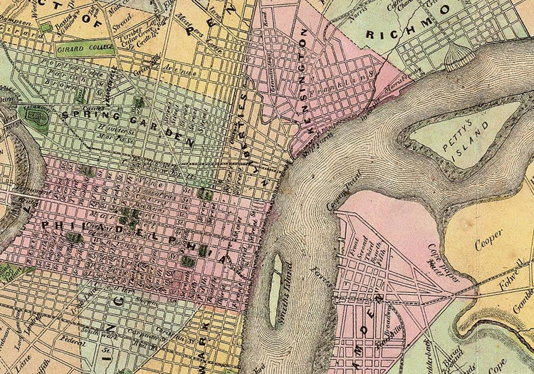 Old Map of Philadelphia and environs 1847 - product images  of