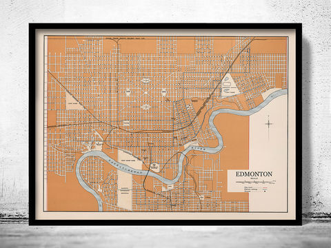 Old,Map,of,Edmonton,Canada,1915,edmonton canada, edmonton city, map of edmonton, edmonton map, old map of edmonton, edmonton poster, edmonton gift, edmonton print, edmonton guide