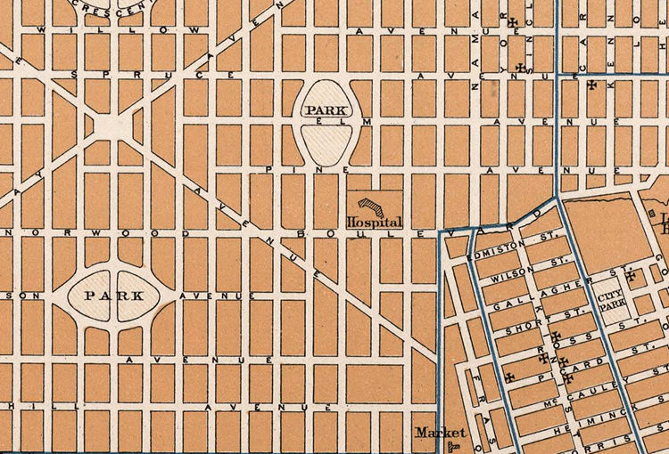 Old Map of Edmonton Canada 1915  - product images  of