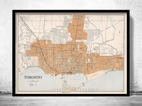 Old,Map,of,Toronto,Canada,1915,toronto map, toronto canada, toronto city, map of toronto, toronto guide, toronto poster, old map of toronto, toronto city map, toronto gift, toronto old map