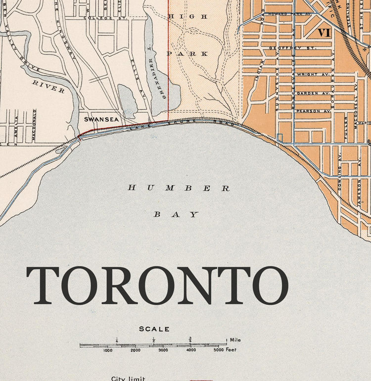 Old Map of Toronto Canada 1915 - product images  of