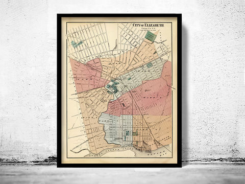Old,Map,of,Elizabeth,New,Jersey,1872,United,States,Elizabeth jersey, elizabeth new jersey, elizabeth jersey map, old map of elizabeth, elizabeth city. elizabeth poster, elizabeth city gift, elizabeth city poster