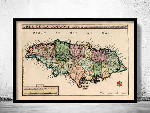 Old,Map,of,Jamaica,1705,Art,Reproduction,Open_Edition,vintage,old_map,vintage_map,japan_art,asia,jamaican,jamaica,map_of_jamaica,jamaica_decor,jamaica_map,jamaica_poster,kingston,old_jamaica