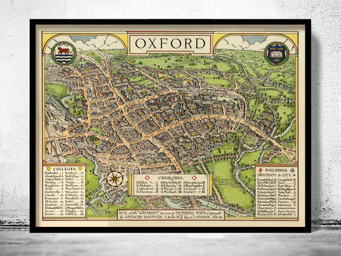 Old,Map,of,Oxford,England,Art,Reproduction,Open_Edition,oxford, oxford uk, oxford map, map of oxford, oxford poster, map, old map, maps and prints