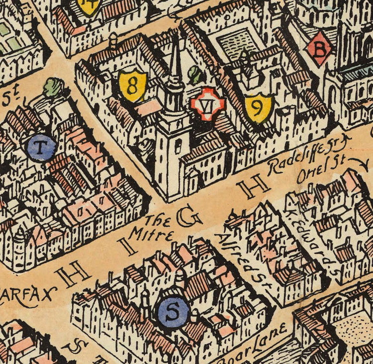 Old Map of Oxford England  - product images  of