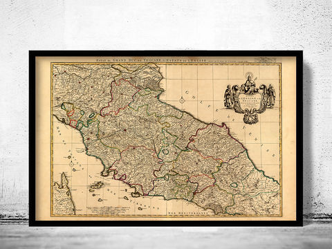 Old,Map,of,Tuscany,Toscana,Italy,1708,map of tuscany, mappa di toscana, toscana italy, umbria italy, umbria toscana, toscana map, tuscany italy, umbria tusca