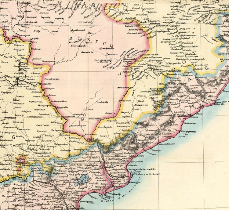 Old Map of India 1859  - product images  of