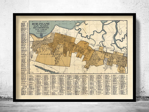 Old,Map,of,Burlingame,San,Mateo,California,1920,map of burlingame, old map of burlingame california, san mateo map, Art,Reproduction,Open_Edition,United_States,panoramic_view,gravure,urban,birdseye,vintage_map,Long Beach,california,old_map,vintage_poster,city_plan,old_gravure, long beach CA