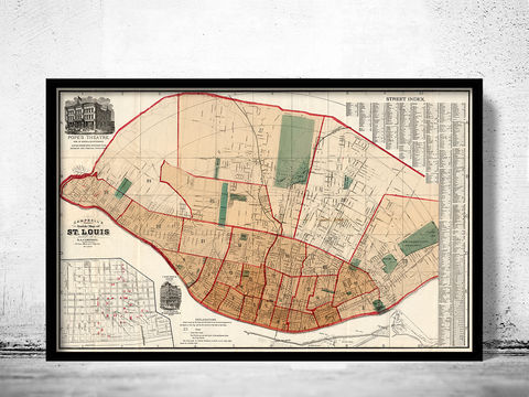 Old,map,of,Saint,Louis,City,St,1882,saint louis city, sant louis, st louis, saint louis map, map of saint louis