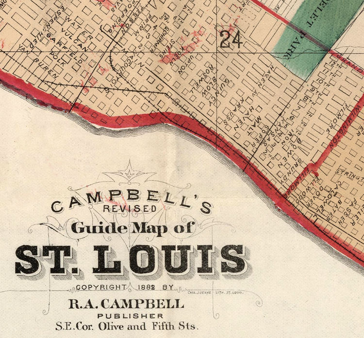 Old map of Saint Louis City St Louis 1882 - product images  of