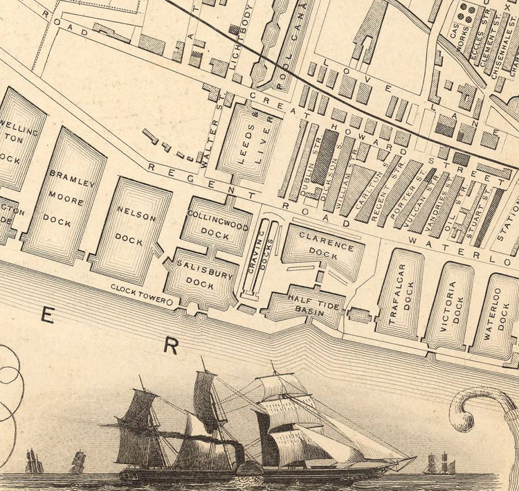 Old Map of Liverpool 1851  - product images  of