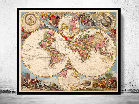 Antique,World,Map,1700,old map of the world,  world map poster,Art,Reproduction,Open_Edition,World_map,atlas,Asia,europe,america,oceania,vintage_map,old_world_map,globe,antique_map,antique_world_map,world_old_map,map_of_the_world