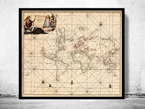 Antique,World,Map,1697,world map poster,Art,Reproduction,Open_Edition,World_map,atlas,Asia,europe,america,oceania,vintage_map,old_world_map,globe,antique_map,antique_world_map,world_old_map,map_of_the_world
