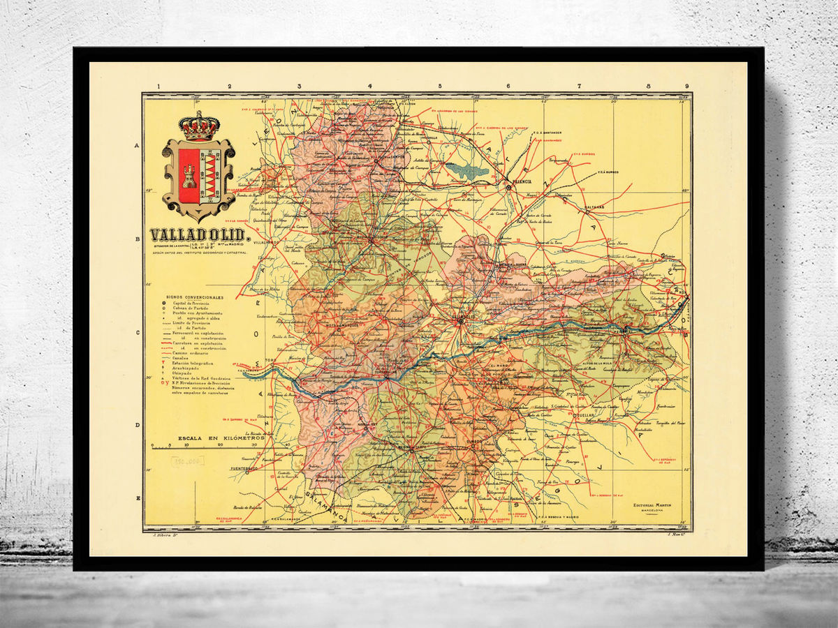 Old Map of Valladolid Region 1900 Spain - product images  of