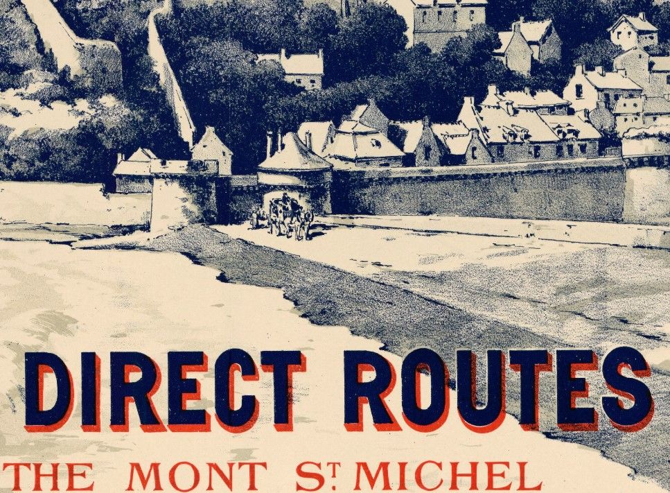Old Poster of Mont St Michel France 1899 - product images  of