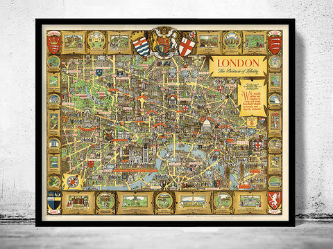 Old,London,map,Poster,-,Bastion,of,Liberty,Pictorial,Map,london Bastion of Liberty ,Propaganda poster,Reproduction,Open_Edition,map_of_london,london_map,panoramic_view,london_view,panoramic_london,old_map_of_london,london_vintage,vintage_map_london,london_city_map,london_city,wall_decor_london,london_poster,lon