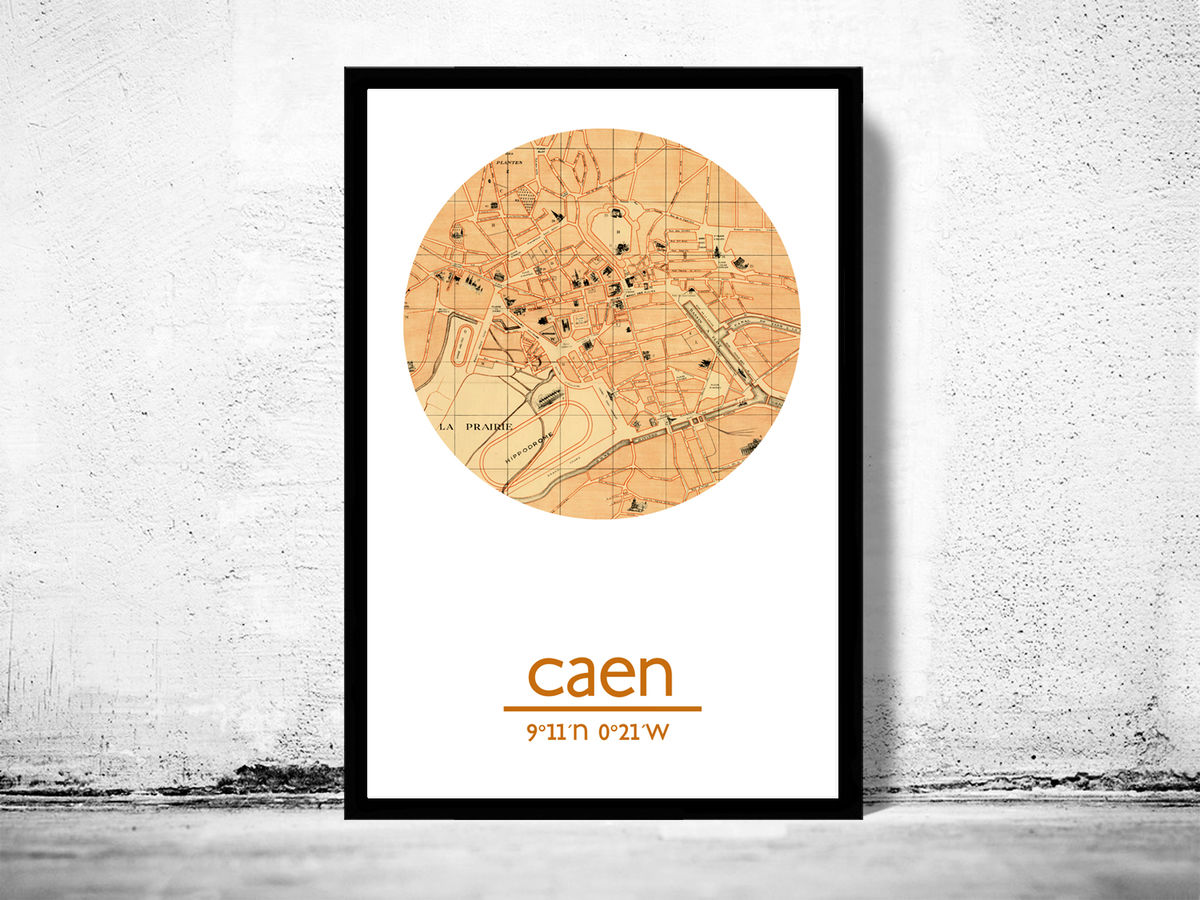 CAEN - city poster - city map poster print - product images  of