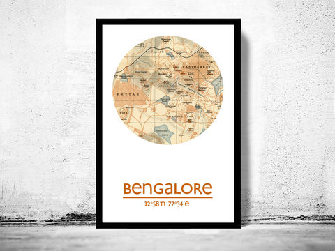 BENGALORE,-,city,poster,map,print, BENGALORE print, india poster, indian Poster, indian art, BENGALORE , BENGALORE map, wall decor, city,india art,maps,BENGALURU, travel poster