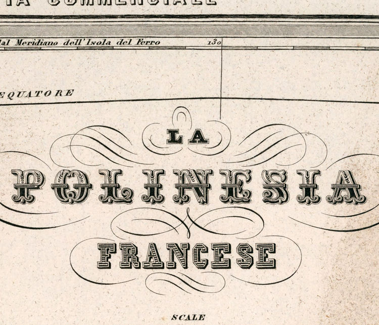 Old Map of French Polinesya 1858 - product images  of