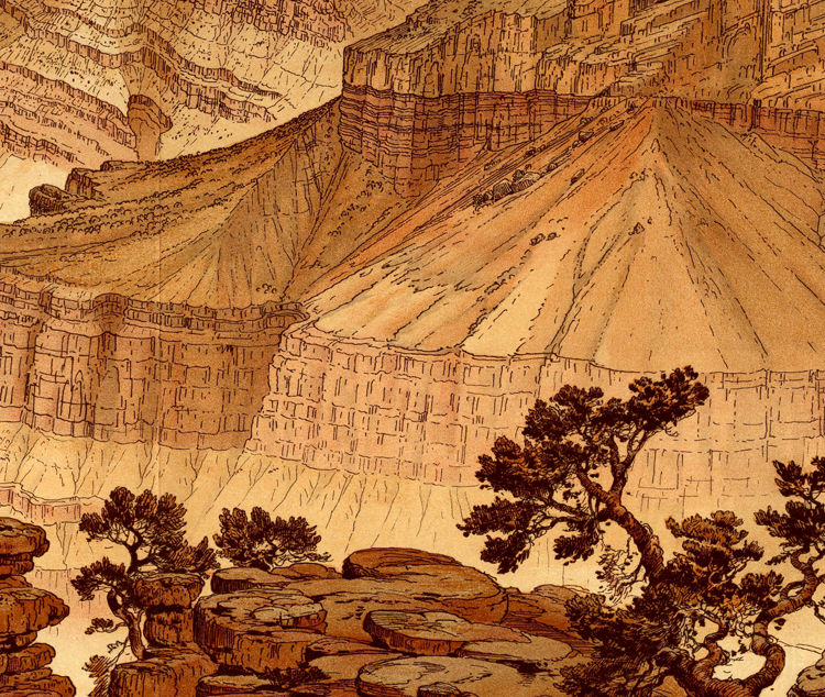 Grand Canyon Panoramic View United States 1882 - product images  of