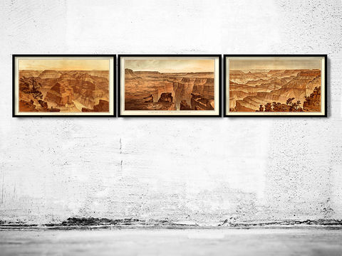 Grand,Canyon,Panoramic,View,United,States,1882,grand canyon map, grand canyon print, vintage grand canyon, grand canyon wall decor, grand canyon theme