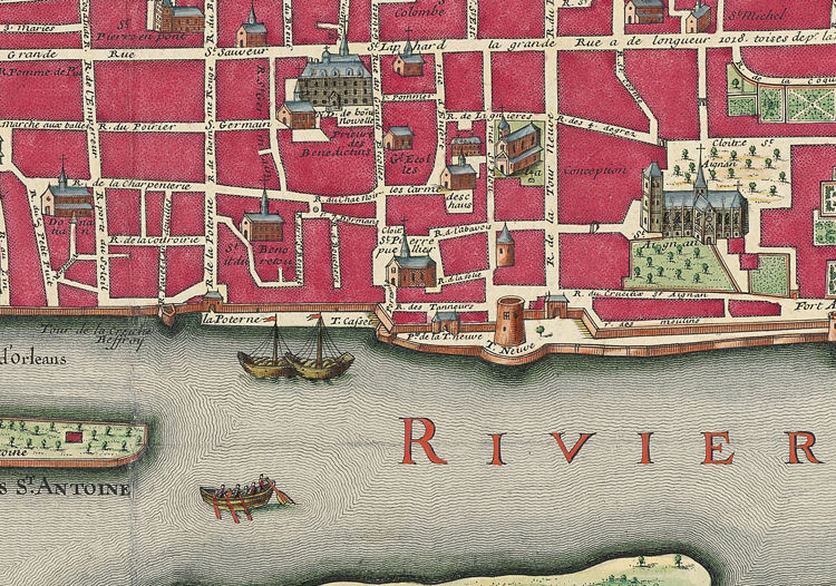 Old Map of Orleans 1700 France - product images  of