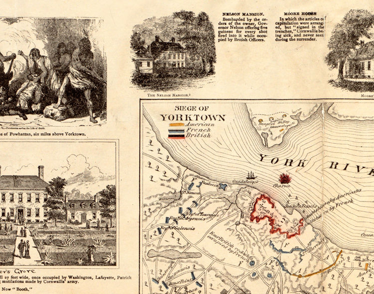 Old Map of Yorktown Virginia 1881 - product images  of