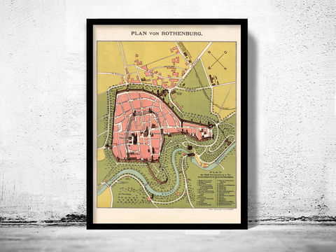Old,Map,of,Rothenburg,Germany,1903,Art,Reproduction,Open_Edition,berlin,old_map,vintage_map,rothenburg_map,map_of_rothenburg,deutshland,old_rothenburg,rotenburg_poster,map of rothenburg, old map of rothenburg