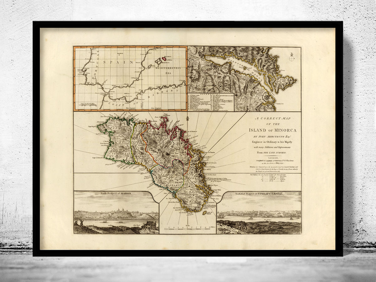 Old Map of Minorca Spain 1794 - product images  of