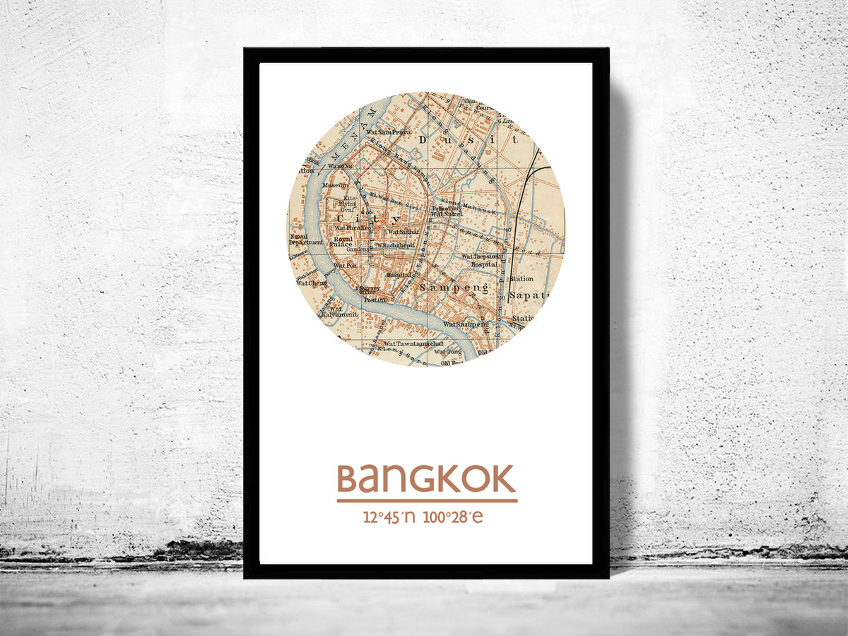BANGKOK - city poster - city map poster print - product images  of