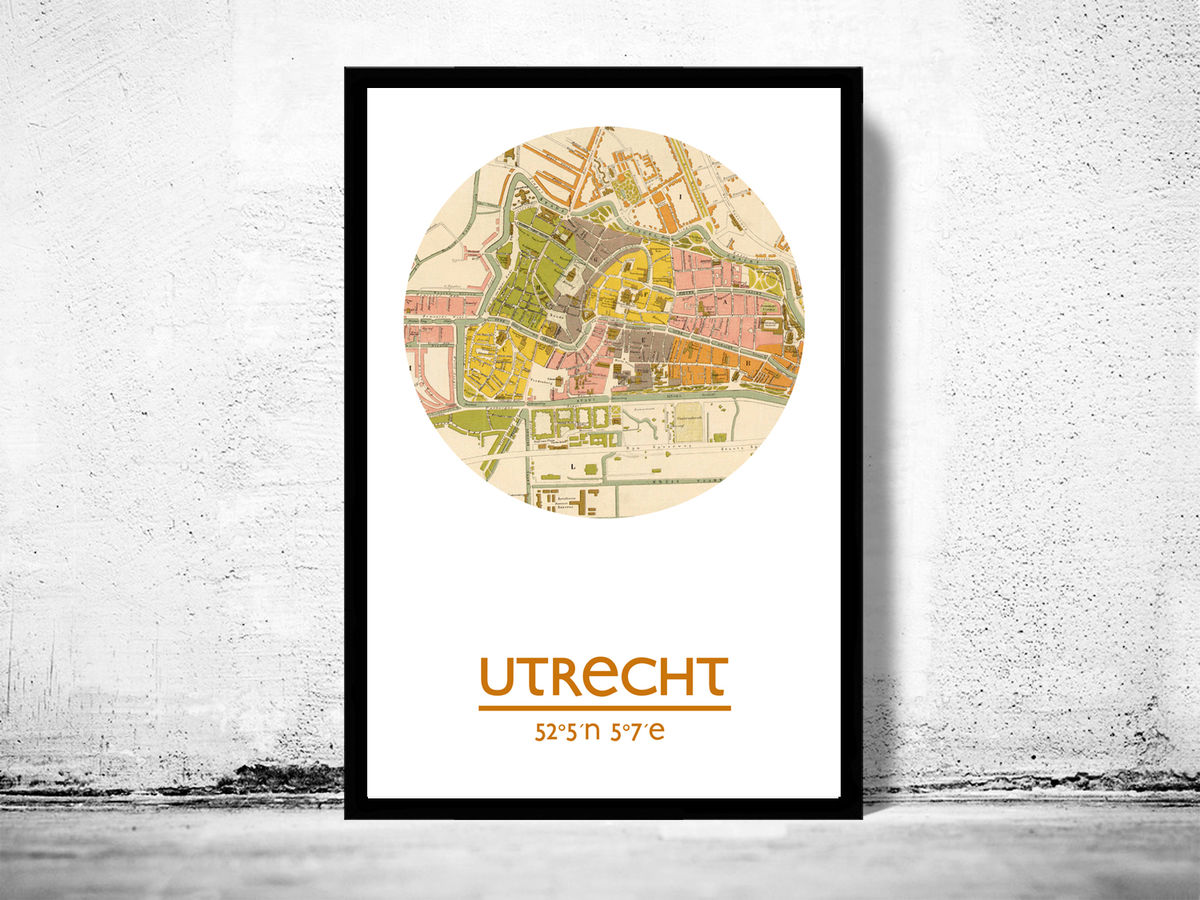 UTRECHT - city poster - city map poster print - product images  of