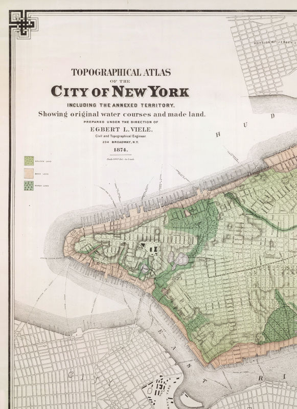 Old Map of New York 1865 Manhattan (3 PIECES) - product images  of