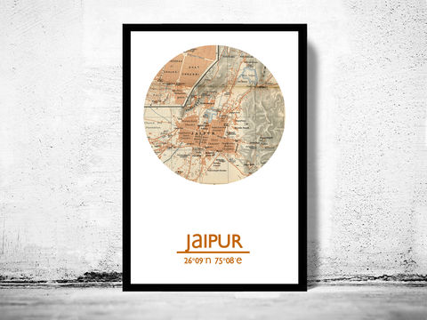 JAIPUR,-,city,poster,map,print, JAIPUR print, india poster, indian Poster, indian art, JAIPUR , JAIPUR map, wall decor, city,india art,maps, travel poste