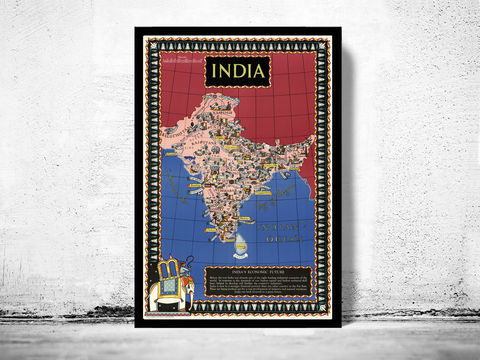 Vintage,Pictorial,Map,of,India,Art,Reproduction,Open_Edition,plan,asia,asia_map,vintage_map,old_map_of_india,india_map,india_vintage_map,india_retro_map,South_east_Asia_map,India_vintage, asia map, map of asia, antique map, india map, old map of india, indian ar, india poster, map of i