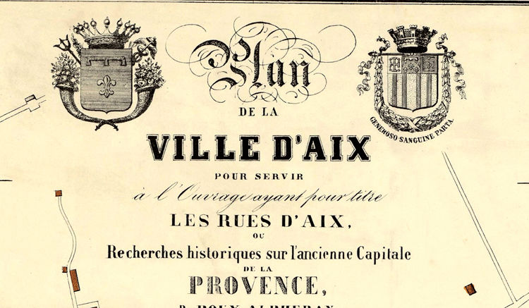 Old Map of Aix-En-Provence 1848 France - product images  of