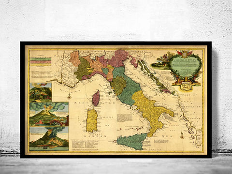 Old,Map,of,Italy,1730,-,fine,reproduction,antique map, old map,Art,Reproduction,Open_Edition,italia, italy map, map of italy,italy,italie,mediterranean_sea,Vintage_map,vintage_poster,old_map,old_map_of_italy,antique_map_italy,map_poster