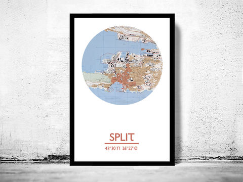 SPLIT,-,city,poster,map,print, SPLIT print,sevilla poster, SPLIT CROATIA Poster, CROATIA art, SPLIT CROATIA, sPLIT map, wall decor, city,maps, travel poster