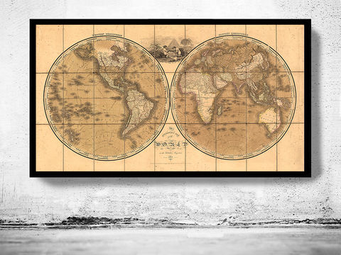 Old,Map,of,the,World,1818,Vintage,world map poster,Art,Reproduction,Open_Edition,World_map,atlas,Asia,europe,america,oceania,vintage_map,old_world_map,globe,antique_map,antique_world_map,world_old_map,map_of_the_world