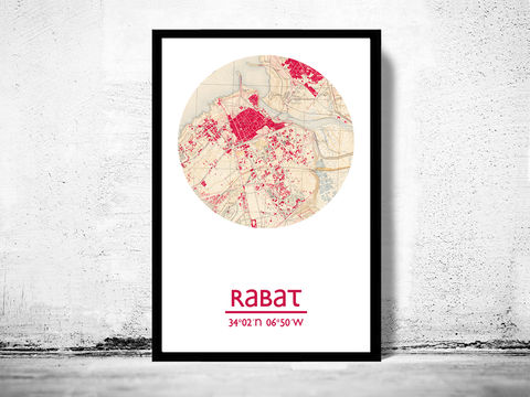 RABAT,-,city,poster,map,print, RABAT print, MOROCCO poster, AFRICAN Poster, MOROCCO art, RABAT , RABAT map, wall decor, city,AFRICAN art,maps, travel poster