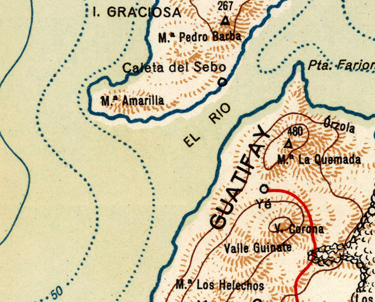 Old Map of Lanzarote Island - fine reproduction - product images  of