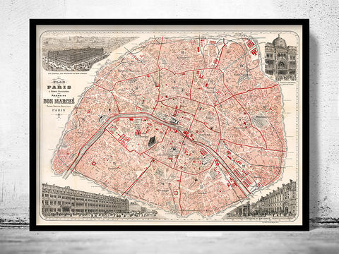 Old,Map,of,Paris,Guide,1892,paris, old map of paris, paris poster, oaris retro, vintage paris,Art,Reproduction,Illustration,france,vintage_map,old_map_of_paris,paris_map,map_of_paris,paris_poster,antique_paris,vintage_paris,paris_retro,old_paris,paris_plan,paris_decor