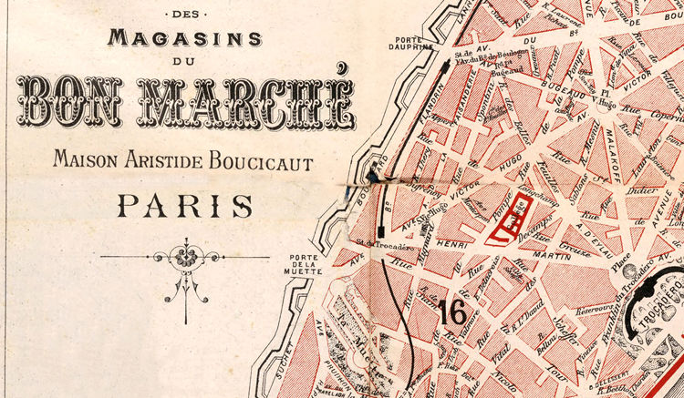 Old Map of Paris Guide 1892 - product images  of
