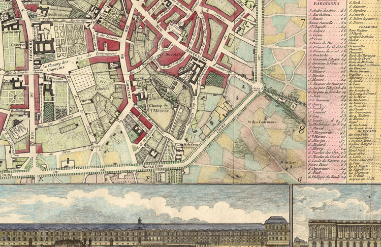 Old Map of Paris, France 1784 - product images  of